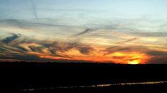 Tramonto #sunset #polesine #adria ph. Raffaella Gorda