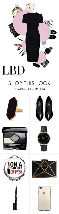 """Little Black Dress"" by xonfident ❤ liked on Polyvore featuring Jaeger, Max Factor, Chanel, Yves Saint Laurent, Christian Dior, Topshop, Smith & Cult, Butter London and Dolce&Gabbana"