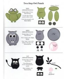 More owl punch ideas  Stampin' Up owl punch
