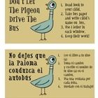A take home literacy bag used for the book Don't Let The Pigeon Drive The Bus by Mo Willems.  This activity is designed to be used for practicing w...