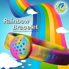 Introducing our brand new Rainbow Essential Bracelet. This super fun, super stylish essential oil diffuser comes with 5 all natural clay diffuser tablets. Simply add 1-3 drops of your #essentialoils to the tablet,allow to absorb and then place in the back of the bracelet. Check out www.essentialbracelet.com for more information.