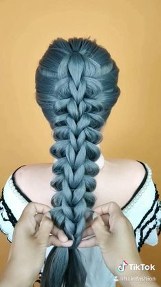 Braided Half Up Half Down Hair, Half Up Half Down Hair Tutorial, Half And Half Hair, Easy And Beautiful Hairstyles, Bun Hairstyles For Long Hair, Braided Hairstyles, Hair Style Vedio, Wedding Hair Half, Hair Up Styles