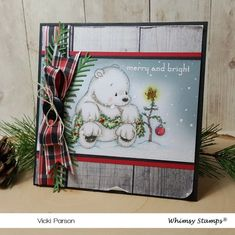 Deep Red Rubber Cling Stamp Koala Bear with Baby in a Tree