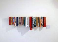 This article is mainly about how people are finding other uses for books but I like this one idea and my try to figure out how to do it.