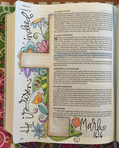 Easter Day Bible journal polkadotpaintbrush                                                                                                                                                      More