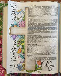 Easter Day Bible journal polkadotpaintbrush                                                                                                                                                      More