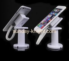 Acrylic display manufacturers customize display exhibition mobile phone security stands CPK-073