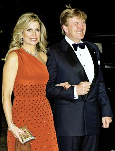 """""""State Visit to Denmark: Day 2. King Willem-Alexander and Queen Máxima hosted a gala night in the Black Diamond of Copenhague in thanksgiving for being hosted by the Danish Royal Family. 18 March..."""