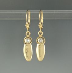 14k Yellow Gold .12ct Diamond Earrings- One of a Kind