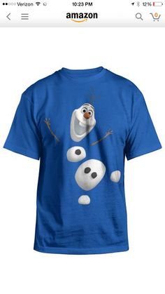 59325dae Disney Frozen Olaf Split Up Youth SS T-shirt - Royal-small Hybrid Apparel