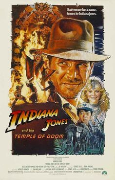 A great poster from the second movie in Steven Spielberg's Indiana Jones film series - The Temple of Doom! Ships fast. 11x17 inches. Be Adventurous! Check out the rest of our selection of Indiana Jone
