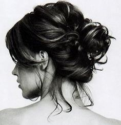 Messy Bun... someday i will be able to do this!