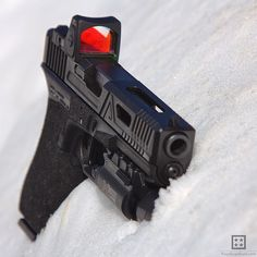 fourguysguns:  Time for another#GunsInSnow picture thanks to #NH weather. Lots of #snow but at least the sun is out. This is an @agencyarms G17 with @trijicon #RMR and a @surefirelights #X300U   Really hard to not fiddle with this pistol. #pewpewpew #igmilitia #dailybadass #gunsdaily #weaponsdaily #agency #fourguysguns