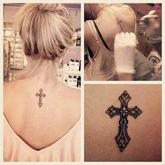 tattoo..cross..forever..love