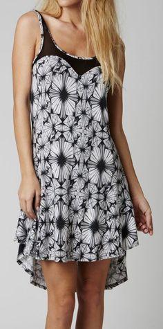 White Atomix Hi-Low Dress