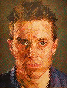 Bid now on James by Chuck Close. View a wide Variety of artworks by Chuck Close, now available for sale on artnet Auctions. Chuck Close Paintings, Chuck Close Art, Chuck Close Portraits, Guy, A Level Art, Abstract Portrait, Abstract Art, Art Sites, Art Graphique