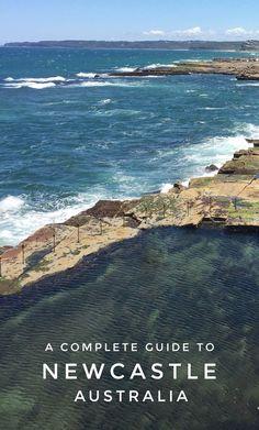 Stunning scenery in Newcastle, Australia. A complete travel guide. Australia Tourism, Visit Australia, Australia Beach, Travel News, Travel Guides, Travel Advise, Amazing Destinations, Travel Destinations, Best Cities