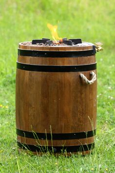 Barrel Gas Fire Pit will enhance any outdoor living space, bringing charm and character. Can be used as a cooker or as a outside heater warmer. This barrel is highly durable and will stand up to the elements. Outside Heaters, Clay Fire Pit, Garden Fire Pit, Barbecue, Patio Heater, Outdoor Living, Outdoor Decor, Barrel, Home And Garden