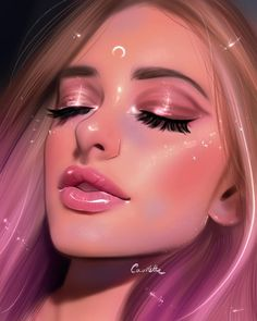 Ruby Caurlette is a 17 years old self-taught digital artist, from Syria. She makes impressive digital portrait drawings. Digital Art Girl, Digital Portrait, Photo Portrait, Portrait Art, Girly Drawings, Face Sketch, Anime Art Girl, Aesthetic Art, Cartoon Art