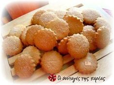 Μπισκότα κανέλας Sweets Recipes, Cookie Recipes, Cookie Time, Sweetest Day, Pie Cake, Cookie Bars, Macarons, Tea Time, Biscuits