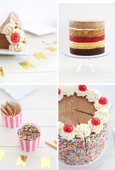 Ultimate Sampler Cake | Sprinkle Bakes | I think it's the perfect everything in one slice layer cake!
