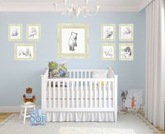 Winnie the Pooh classic vintage Nursery with prints and cushions