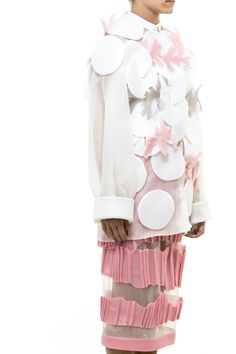 white and pink skirt and jacket by Atelier Kikala #fashion