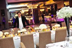 Award winning event planner ArthurK from Fusion Events.  #torontoweddingplanner #torontowedding #tablescape #weddingtablescape #centerpiece #weddingcenterpiece http://www.fusion-events.ca. photo by Barebonephoto.