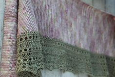 Simple shawl in two colors.