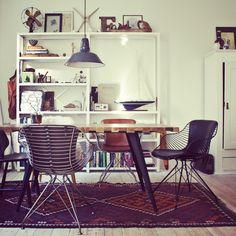 Danish Design/Scandinavian Living. Wire Dining Chairs by Overgaard & Dyrman. www.oandd.dk