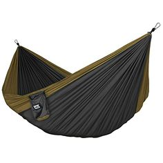 Neolite Single Camping Hammock - Lightweight Portable Nylon Parachute Hammock for Backpacking, Travel, Beach, Yard. Hammock Straps & Steel Carabiners Included