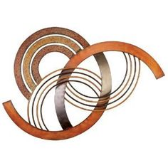 Deco 79 Metal Wall Decor, 38 by 2 Inch. contemporary copper and brown hue iron and metal wire abstract semi circle montage wall sculpture. Metal Wall Art Decor, Metal Wall Sculpture, Modern Sculpture, Wall Sculptures, Abstract Metal Wall Art, Metal Art, Abstract Art, Interior Modern, Metal Walls