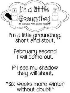 Coupon Michaels Arts And Crafts Info: 9184896168 Preschool Groundhog, Preschool Poems, Groundhog Day Activities, Happy Groundhog Day, Preschool Lessons, Preschool Learning, In Kindergarten, Preschool Activities, Preschool Winter