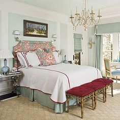 This is one of my favorite Southern Living Homes master bedrooms.