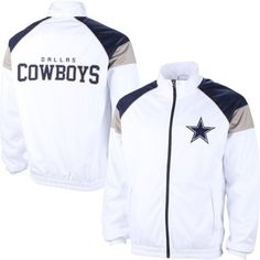 Dallas Cowboys White Mesh Overlay Track Jacket