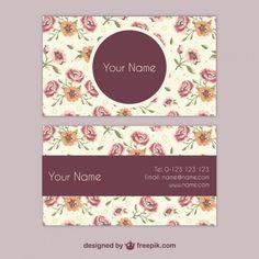 Cartão de visita Floral Mais