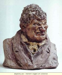 Honore Daumier. Unknown, but Usually Said to be Count Charles-Henri Verhuel de Sevehaar (1764-1845), Admiral. 1835. Colored clay. Musée d'Orsay, Paris, France.