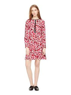 mini rose silk dress - Kate Spade New York
