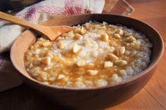 Mléčná krémová rýžová kaše Tempeh, Cheeseburger Chowder, Kids Meals, Macaroni And Cheese, Oatmeal, Food And Drink, Soup, Breakfast, Ethnic Recipes