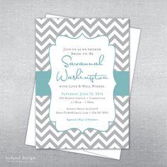 Bridal shower invitation. Wedding shower invitation. Chevron. Quatrefoil.