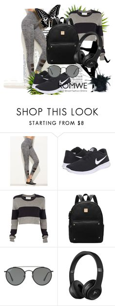 """""""romwe"""" by beauty-dcccv ❤ liked on Polyvore featuring NIKE, A.L.C. and Ray-Ban"""