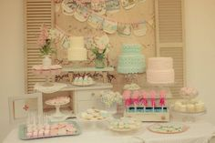 Vintage dessert table www.jennycookies.com Cinderella party...check out the pictures!!!