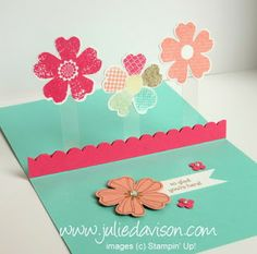 Julie's Stamping Spot -- Stampin' Up! Project Ideas Posted Daily: Floating Pop Up Card with Flower Shop Bundle