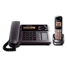 Panasonic KX-TG1061M Cordless/Corded Phone with Answering Machine, Metallic Grey --- http://www.amazon.com/Panasonic-KX-TG1061M-Cordless-Answering-Metallic/dp/B001P80ESE/ref=sr_1_4/?tag=telexintertel-20