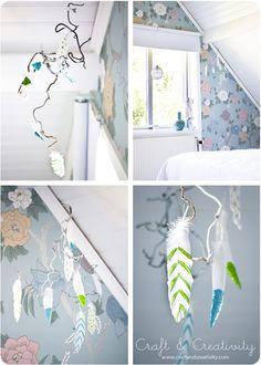 Glitter feathers - by Craft & Creativity