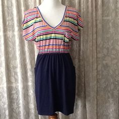 Clearance! Multi Color Striped Top Dress