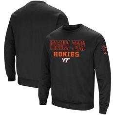 c8aae66ef4a7d Virginia Tech Hokies Colosseum Stacked Performance Pullover Sweatshirt –  Black