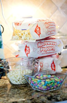 Popcorn, M & M's, melted white chocolate....perfect treat for a baby shower, Easter, anytime!