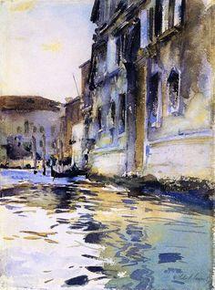 The Athenaeum - Venetian Canal, Palazzo Contarini degli Scrigni e Corfu (John Singer Sargent - circa 1880-1881)
