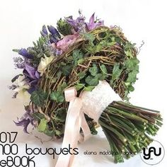 BLUE GARDEN BOUQUET  #ebook #yauconcept #elenamadalinatoader #lotus #100bouquets #roses #clematis #lavander #veronica #bluebouquet #alternativebouquet #bouquet #wedding #weddingbouquet #floralart #floraldesign #artfloral #romanticwedding #pinterestwedding
